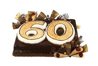 Бутикова торта юбилей 60 г.