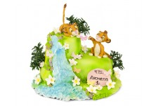 Бутикова торта Симба и Нала
