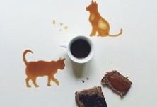 Ароматни рисунки от кафе и бисквити
