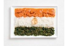 Индия: къри пиле, ориз, cheera thoran и papadum